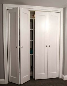 39 Ideas Folding Closet Door Makeover Home Depot For 2019 Closet Door Makeover, Closet Bedroom, Laundry Closet, Built In Wardrobe, Door Makeover, Folding Doors, Remodel Bedroom, Trendy Bedroom, Wardrobe Doors