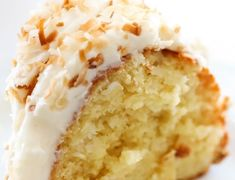 Coconut Bundt Cake his is an incredibly moist cake loaded with coconut flavor! The Cream Cheese Frosting on top is the perfect pairing. This cake with be loved by all wh. Top Recipes, Sweet Recipes, Cake Recipes, Dessert Recipes, Cooking Recipes, Recipies, Bunt Cakes, Cupcake Cakes, Cupcakes