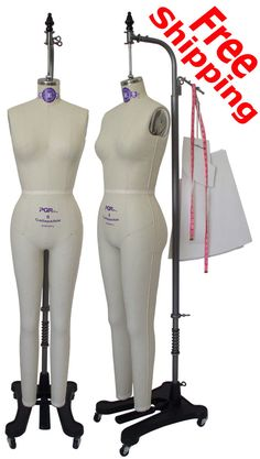 PGM Industry Grade Full Body Dress Form w Collapsible Shoulder and Realistic Hip Buttock, Professional Dressmaker Form(Size 10) by PGMDressForm on Etsy
