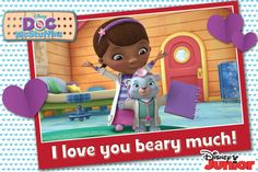 Who's up for a round of hugs? Valentines Movies, Disney Valentines, Valentines Day, Disney Dogs, Disney Couples, Disney Junior, Max And Roxanne, Doc Mcstuffins, Hugs