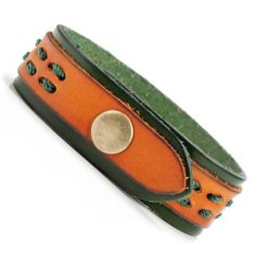 Urban Chief Mens Vintage Leather Bracelet Cuff New in Box