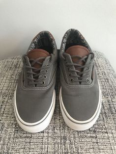 c98f48122683ed (ebay link) Vans Shoes Off The Wall Mens 6.5 Womens 8 Gray And White