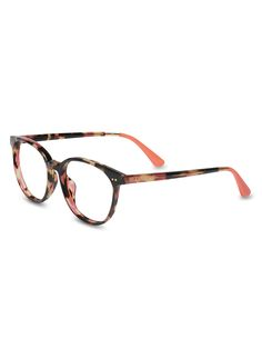 TOMS Bellini in Tortoise Shell and Pink Carnations is the easiest way to wear mixed patterns.