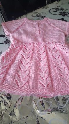 baby vest knit baby dress knitted baby dress by KnittingAndYarns Baby Cardigan Knitting Pattern Free, Crochet Baby Dress Pattern, Knit Baby Dress, Baby Dress Patterns, Knitted Baby Clothes, Baby Knitting Patterns, Knitting Designs, Crochet Summer Dresses, Knitting For Kids