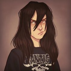 Ooo~ I love very expressive faces// this looks like me as a guy XD I also love Danzig m/