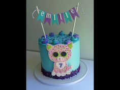 Beanie Boo Party, Beanie Boos, 8th Birthday, Birthday Parties, Birthday Cake, Beanie Boo Birthdays, Leopards, Baby Party, Party Cakes
