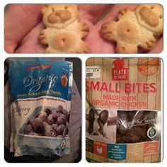 Got new yummy treats today from work.  #bugg #bostonterrier #pug  #workingdog #dogsofinstagram #dogsoftoronto #torontodogs #buggsofinstagram #dogtreats #grandmalucys #platopettreats #organic #onlythebest