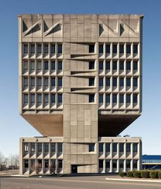 The Pirelli Tire #Building also known as the Armstrong Rubber Building is a private building in the neighborhood of Long Wharf in New Haven, Connecticut, USA. Designed by #modernist #architect Marcel Breuer, the structure is a noted example of #Brutalism.