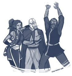 Aang and Katara's kids.