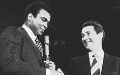Meeting of minds: Muhammad Ali shakes hands with Brian Clough at a press conference in New York, in 1974