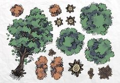 Roadside Forest Tokens - 2-Minute Table Top