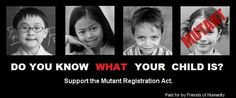writing prompt: Write a story set in a time where mutants exist. What is the mutant registration act?
