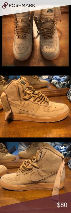 huge selection of 3b29b 0089d Wheat Nike Air Force ones men s size 9 Wheat color men s size 9 almost new  barley