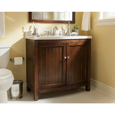 Website Picture Gallery Shop allen roth Moravia Sable Undermount Single Sink Birch Poplar Bathroom Vanity with Engineered