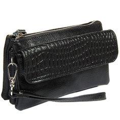 Clutch Wristlet Genuine Leather Crocodile Bag
