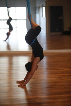 bound angle - aerial yoga -kinda want to try it even though the idea seems a bit gimmicky. Looks like it would feel amazing