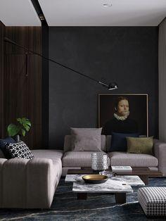 "Popatrz na ten projekt w @Behance: ""Dark apartment for light pair"" https://www.behance.net/gallery/53946963/Dark-apartment-for-light-pair"