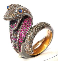 Excited to share this item from my shop: Stunning Ruby Blue Sapphire Diamond Snake Victorian Ring Snake Jewelry, Animal Jewelry, Jewelry Art, Jewlery, Snake Earrings, Antique Jewelry, Jewelry Design, Sapphire Diamond, Blue Sapphire