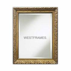 West Frames Bella Ornate Embossed Framed Wall Mirror Antique | Etsy Antique Buffet, Antique Gold, Wedding Mirror, Wall Mounted Mirror, Wall Mirror, Gold Walls, Beveled Mirror, Frames On Wall, Framed Wall
