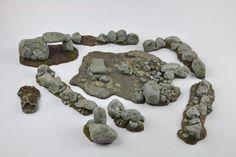 Rocks Rocky Outcrops  Terrain Scenery Barricades by resinscenery