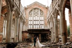 Urban Elegance Wedding Inspiration Among Church Ruins