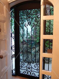 wrought iron storm doors | Door Designs Plans