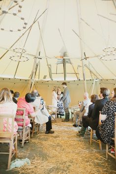 Brace yourself, this has to be the coolest festival wedding we've ever featured… Beth an Owain were married in July 2012