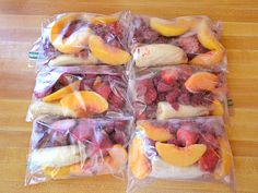 """""""I make smoothie packs for quick breakfasts: Split two 1-lb. bags of frozen fruit among six quart-size resealable plastic bags. Add half a peeled banana to each, seal, date, and freeze. On a busy morning you can just dump one into a blender with milk or juice!"""" –Beth Moncel of Budget Bytes Courtesy of Beth Moncel - Redbook.com"""