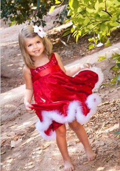 Santa Baby Girls Christmas Dress