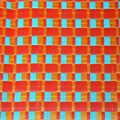Bleu Turquoise, Damier, African Design, A 17, Abstract, Artwork, Red, Plaits, House