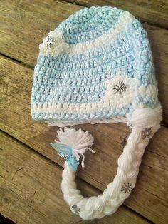 Looking for your next project? You're going to love Queen Elsa Hat with Hair Braid by designer Annie Jo.