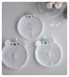 Crochet Cup Cozy, Cute Crochet, Beautiful Crochet, Crochet Hooks, Crochet Motif Patterns, Crochet Designs, Diy Crafts Jewelry, Crochet For Beginners, Crochet Accessories
