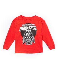 This Red Star Wars Darth Vader Dark Side Tee - Toddler & Boys is perfect! #zulilyfinds