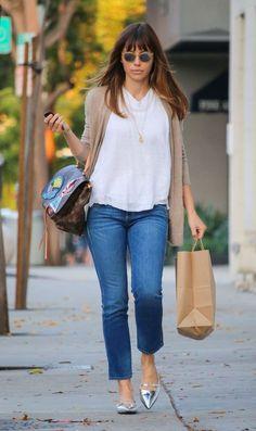 Jessica Biel casual style