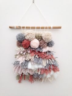 I have pinned this Weave Loom Wall Hanging Woven Neutrals Tassels Shaggy Pom Pom Weaving to my texture board they are very soft and warm to touch which makes a home welcoming I could incorporate the fabric from the tea towel project Weaving Wall Hanging, Hanging Fabric, Fabric Wall Hangings, Weaving Textiles, Tapestry Weaving, Fabric Weaving, Wall Tapestry, Weaving Loom Diy, Loom Weaving Projects