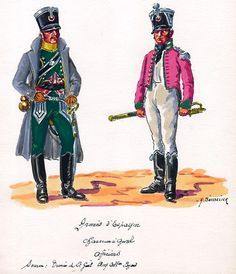 French; Chasseurs a Cheval, Officers in Spain