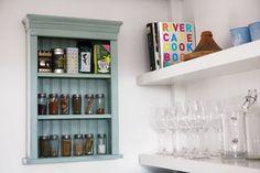 Paula Asple's kitchen. Fab spice rack! {Photo: Paul Sherwood.}