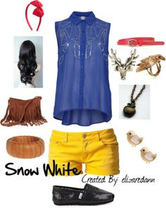 "snow white inspried outfits | Snow White inspired Summer Outfit"" by eawallace on Polyvore"