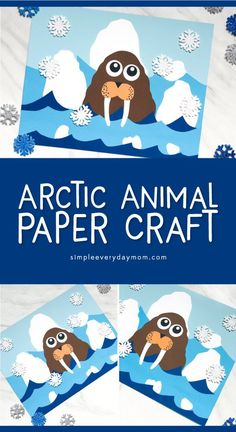 Polar Animal Craft | Kids will love this fun walrus craft with free printable template. #kids #kindergarten #preschool #elementary #craftsforkids #kidscrafts #ece #teacher #teaching #artforkids #kidsart