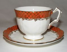 VINTAGE AYNSLEY ENGLISH BONE CHINA TEA CUP & SAUCER SET  HEAVY ornate GOLD  MINT