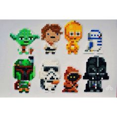 Buy Star Wars in Singapore,Singapore. Top Row: Yoda, Luke Skywalker, C3PO, R2D2 Bottom Row: Boba Fett, Stormtrooper, Jawa, Darth Vader $8 each, $30 for set of 4 Handmade into beautiful bead sprit Chat to Buy