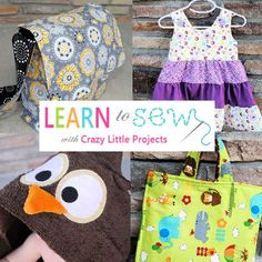 As a mom that sewed for a living at home, while my 4 babies were growing, I realized what a blessing it was that I was able to make money and be a stay at home mom. Just like everyone else though, I had to start somewhere and easy crafts is the place to start. So if you ever wanted to learn to sew, here is one of many Online Sewing Classes =D