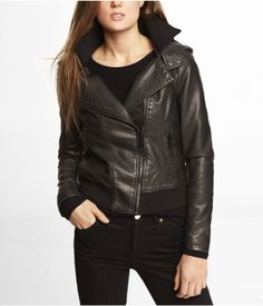 (MINUS THE) LEATHER HOODED BOMBER JACKET | Express