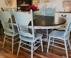 New round metal patio table makeover 26 ideas Round Dining Table Sets, Dinning Room Tables, Farmhouse Table Chairs, Wayfair Living Room Chairs, Leather Dining Room Chairs, Table And Chairs, Oak Table, Desk Chairs, Patio Table