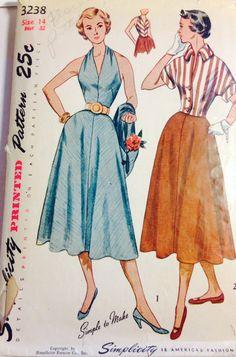 Simplicity 3238 Lovely vintage skirt jacket by ChickadeeInATree, $10.00