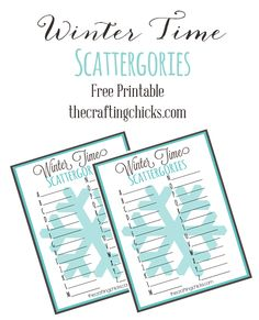 We've shared these fun Printable Scattergories games this year and we are excited to share our Winter Time Scattergories Version!!