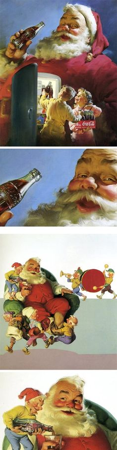 In 1931 Michigan-born illustrator Haddon Sundblom was commissioned to develop advertising images using Santa Claus.