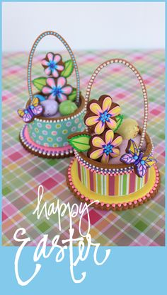 Julia M Usher, decorated sugar cookies, Easter, spring