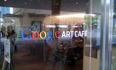 Front view of Google art cafe.