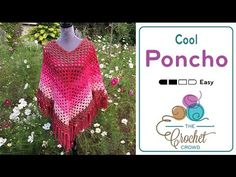 How to Crochet A Poncho. Shown in 5 XL I present to you the Cool Poncho, a free pattern by Yarnspirations. I purposely did the 5 XL version on the pattern to see how far the Caron Cakes will go. Luckily, it only takes 2 balls of Caron Cakes. Crochet Poncho Patterns, Crochet Patterns For Beginners, Crochet Scarves, Crochet Shawl, Crochet Clothes, Hand Crochet, Crochet Hooks, Free Crochet, Knit Crochet